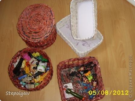 Мои пробы в плетении из бумажных трубочек. фото 8