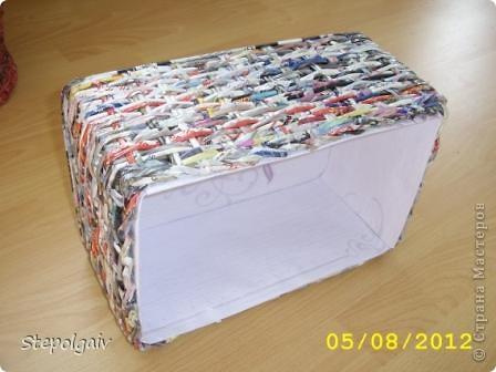 Мои пробы в плетении из бумажных трубочек. фото 9