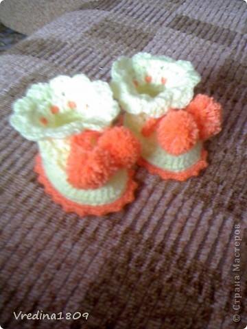 пинетки для новорожденных) фото 2