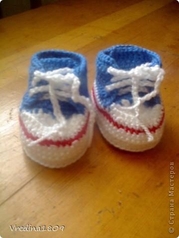 пинетки для новорожденных) фото 3