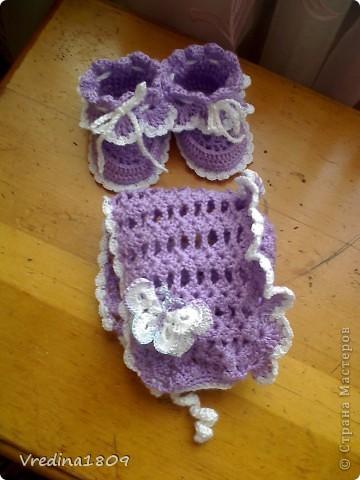 пинетки для новорожденных) фото 1