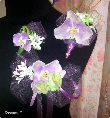 свадебные букетики орхидейки