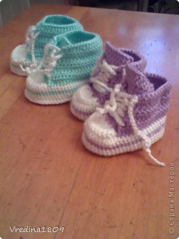пинетки для новорожденных) фото 4
