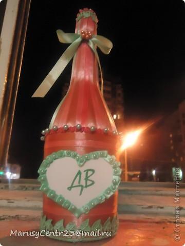 Вот такие бутылочки из лент я сделала на свадьбу сестре. . .)))) фото 1