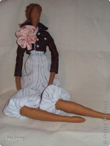 Выкройка в натуральную величину - я журнал выписывала))) Кукла - садовый ангел фото 2