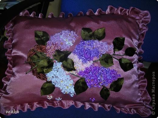 Вышивка лентами на декупаже. фото 6