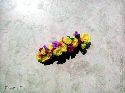 колье из фантазийных лилий фото 6