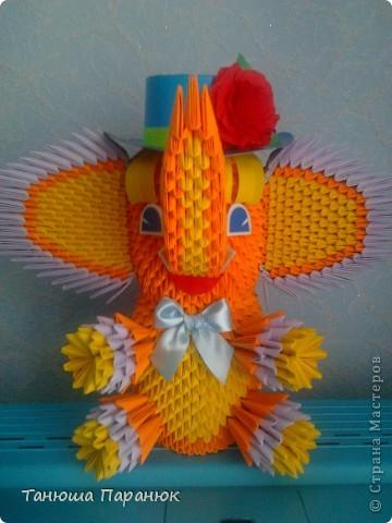 Модульное оригами схема сборки слона