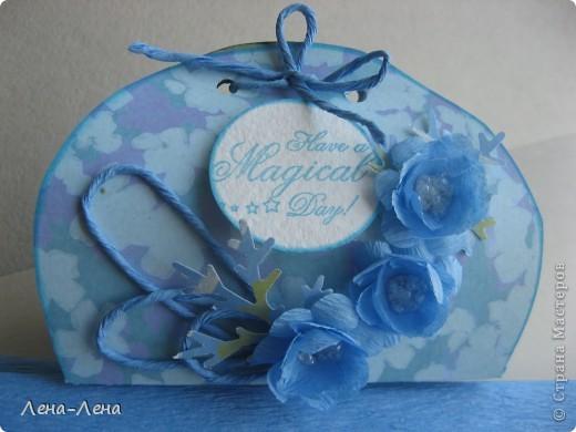 В августе у моей племяшки День рождения. Мама купила ей обалденное голубое платье. Хочу прикупить в тон платью бижутерию и подарить ей. Именно для этого и сделала эту упаковочку.  фото 4