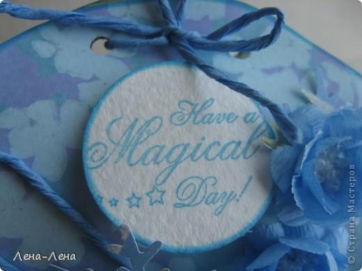 В августе у моей племяшки День рождения. Мама купила ей обалденное голубое платье. Хочу прикупить в тон платью бижутерию и подарить ей. Именно для этого и сделала эту упаковочку.  фото 5