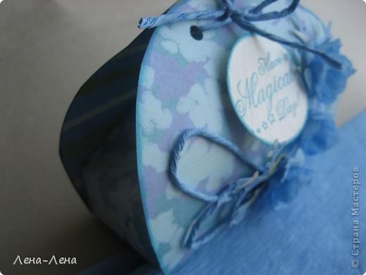 В августе у моей племяшки День рождения. Мама купила ей обалденное голубое платье. Хочу прикупить в тон платью бижутерию и подарить ей. Именно для этого и сделала эту упаковочку.  фото 8