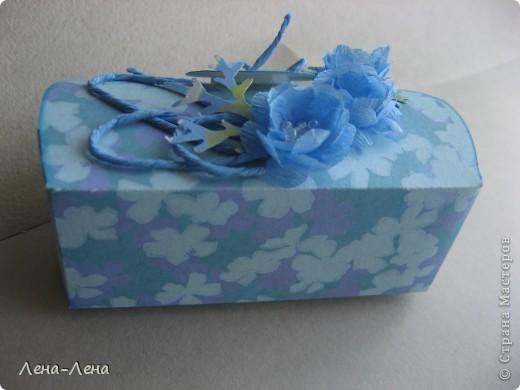 В августе у моей племяшки День рождения. Мама купила ей обалденное голубое платье. Хочу прикупить в тон платью бижутерию и подарить ей. Именно для этого и сделала эту упаковочку.  фото 10