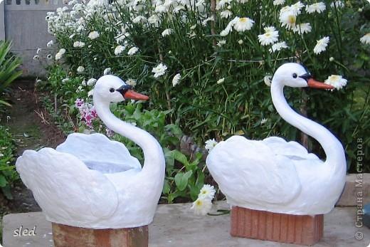 """Этих лебедей сделала в подарок родителям на рубиновую свадьбу. Спасибо Стране мастеров и конкретно автору  """"бисерушка"""" за мастер-класс по их изготовлению. фото 1"""