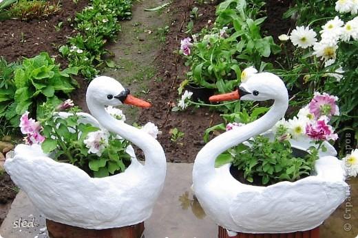 """Этих лебедей сделала в подарок родителям на рубиновую свадьбу. Спасибо Стране мастеров и конкретно автору  """"бисерушка"""" за мастер-класс по их изготовлению. фото 2"""