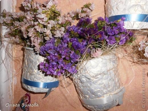 Давно хотела сделать панно в спальню, но всё никак не доходили руки и вот наконец свершилось. В  своей  работе я использовала бросовый материал и цветы- сухоцветы. Ну, а теперьпоподробнее... фото 14