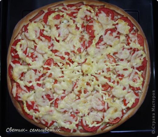 Дорогие мои мастерицы, сегодня я поделюсь с вами рецептом своей пиццы. фото 10