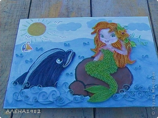 Здравствуйте.Вот решила сделать дельфина и русалку.Вот что у меня получилось. фото 2