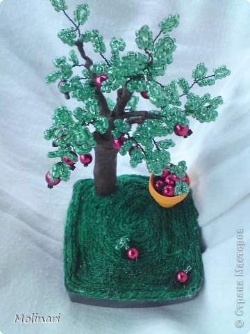 Первое деревце из бисера. Яблоня... фото 1