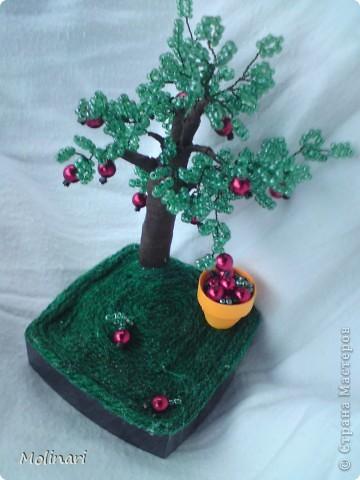 Первое деревце из бисера. Яблоня... фото 4