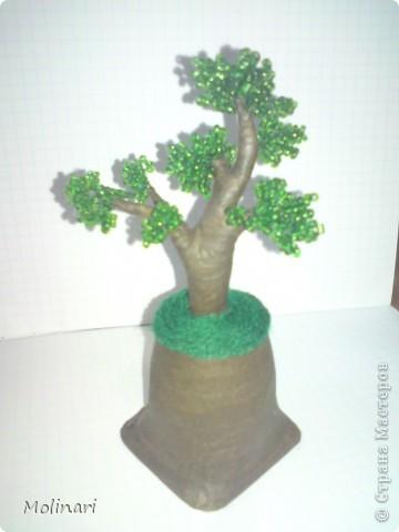 Первое деревце из бисера. Яблоня... фото 8