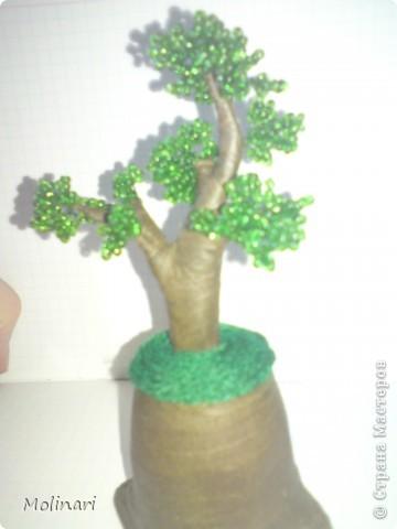 Первое деревце из бисера. Яблоня... фото 9