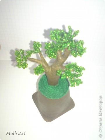 Первое деревце из бисера. Яблоня... фото 10
