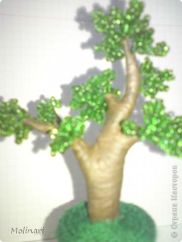 Первое деревце из бисера. Яблоня... фото 11