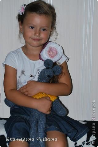 """Мыша"" связана была доче года 3 назад спицами.  фото 2"
