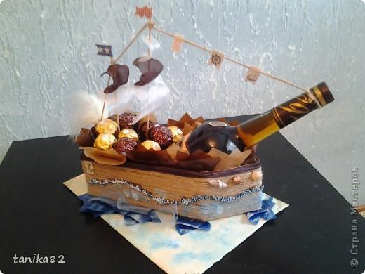 Кораблик из конфет мастер класс своими руками