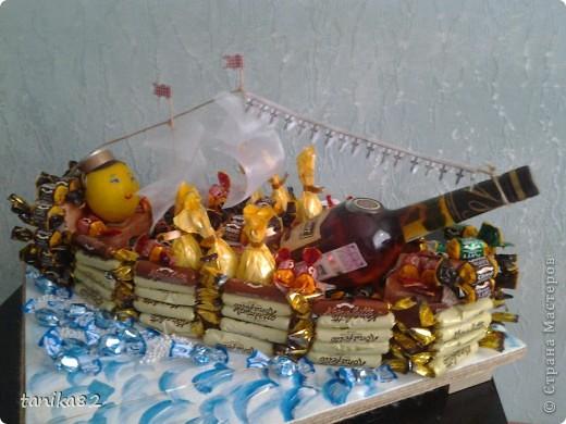 Кораблики из конфет фото 2