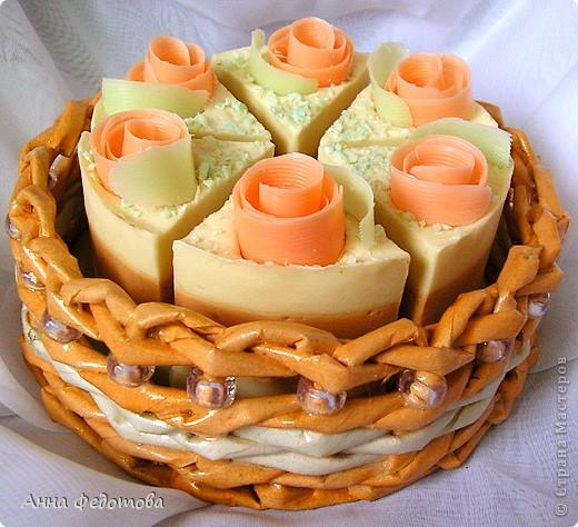 Вот такая упаковочка для мыльного тортика: фото 1