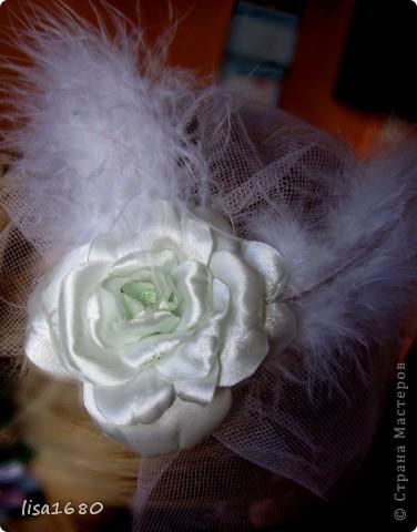 вот такая первая работа была сделана  в стиле канзаша роза.. фото 7