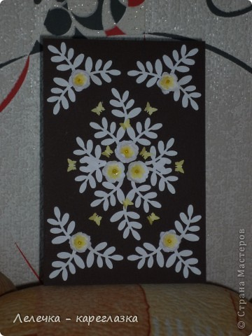 """Сегодня у меня получилась вот такая открытка """"Белые цветы"""". фото 4"""