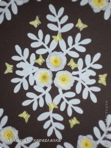 """Сегодня у меня получилась вот такая открытка """"Белые цветы"""". фото 2"""