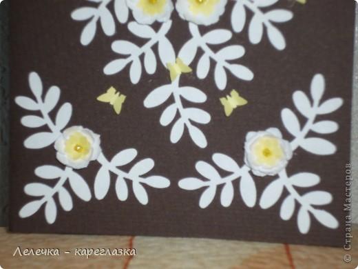 """Сегодня у меня получилась вот такая открытка """"Белые цветы"""". фото 3"""