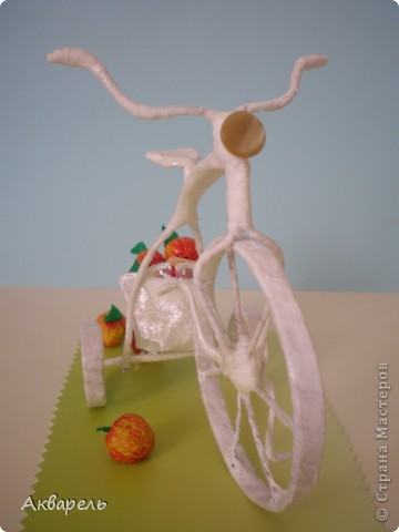 """Ретро-велосипедик. На этот транспорт вдохновением послужил """"Цветочный велосипед"""" в профиле Frutela и ее МК. Конечно же я сделала все по своему, ведь одинаковых нет. И как всегда я не смогла обойтись без всего что прилагается велосипеду. Седло, педали - садись и езжай. А прототипом формы велосипеда послужил .....(см. внизу) . Не думала что делаю по нему, наверное в памяти где то образ отложился.  фото 6"""
