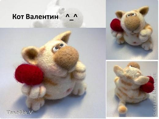 Вот такой славный котик! Моя первая валяшка!!! Спасибо за МК Елене Смирновой! Теперь и я счастливый обладатель ее книги!!! Ура!! Ура!!! фото 1