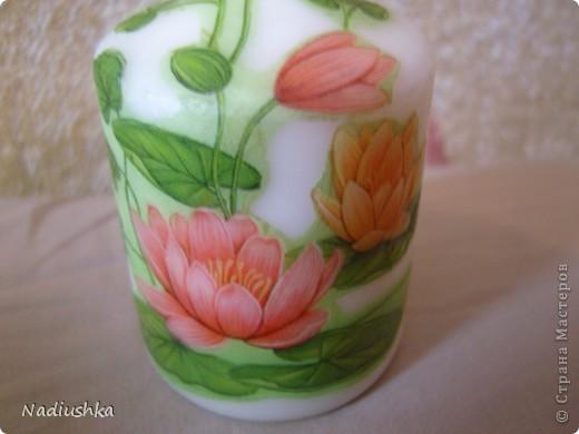 Хочу показать мои новые свечи - продолжаю совершенствоваться в декупаже  фото 3