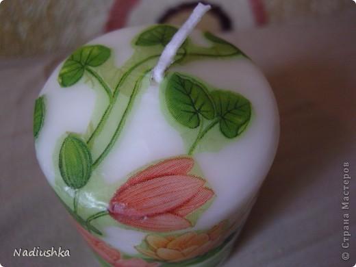Хочу показать мои новые свечи - продолжаю совершенствоваться в декупаже  фото 5