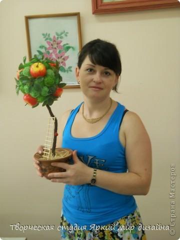 """Топиарий """"Розовый букет"""" фото 6"""