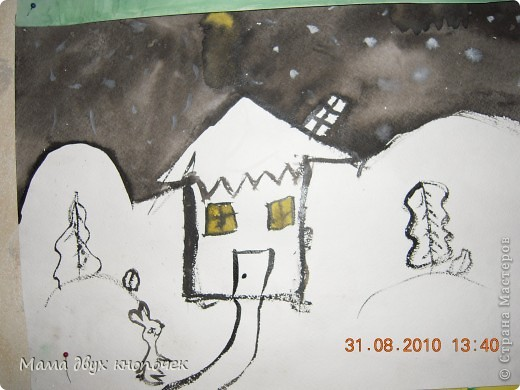 Рождество( нарисована 3 года назад, в 1 кл. худшколы) фото 19