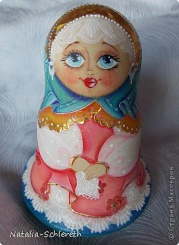 Русская девушка в Золотом кокошнике. Кукла-неваляшка фото 3