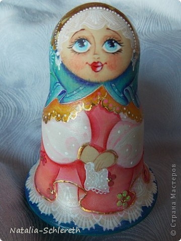 Русская девушка в Золотом кокошнике. Кукла-неваляшка фото 1