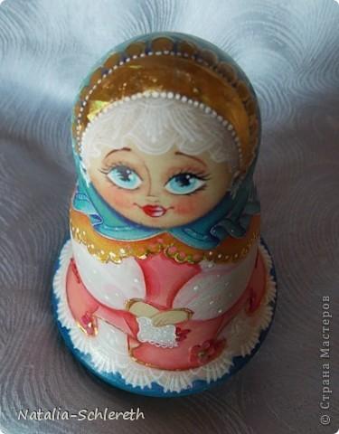 Русская девушка в Золотом кокошнике. Кукла-неваляшка фото 6
