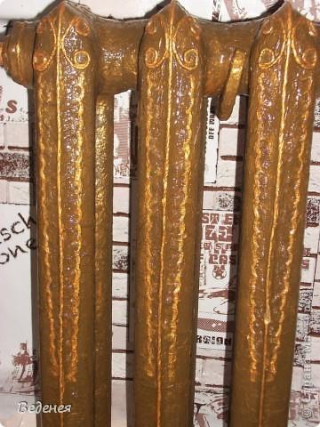 Батарея, бидон и браслеты!!! Что же между ними общего? Ну конечно же пейп-арт - http://stranamasterov.ru/node/319576.  В связи с ремонтом на кухне решила переделать батарею. Вот что получилось в результате. фото 2