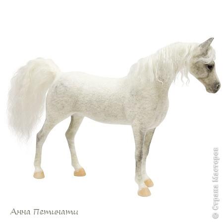 """Конь -сухое валяние""""Орловец"""" фото 6"""
