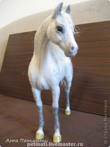 """Конь -сухое валяние""""Орловец"""" фото 2"""