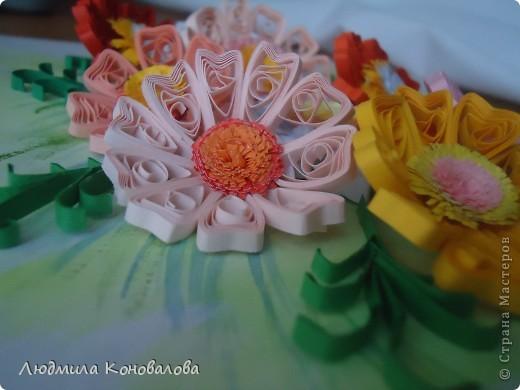 Здравствуйте дорогие мастерицы!!!!!!!!!!! Насмотревшись на красивые цветочки в СМ, решила попробовать сотворить что то похожее. Но как получилось судить Вам!!! фото 4