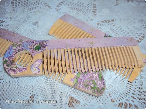 расчески деревянные,небольшие.Сделала как сувенир-подарочек(еду в гости)))) фото 1