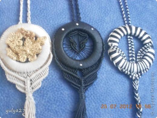 Вот такие вот кулоны плела на подарки))) фото 2
